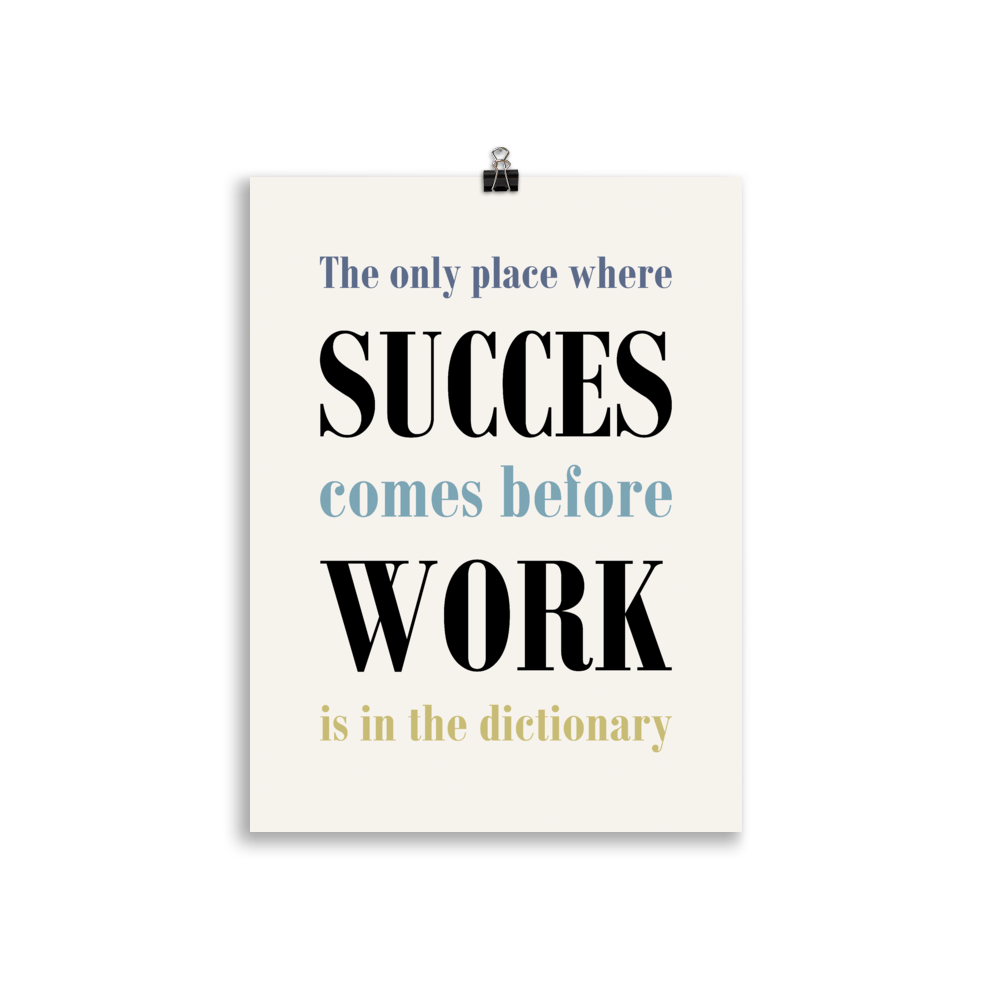 Work for succes