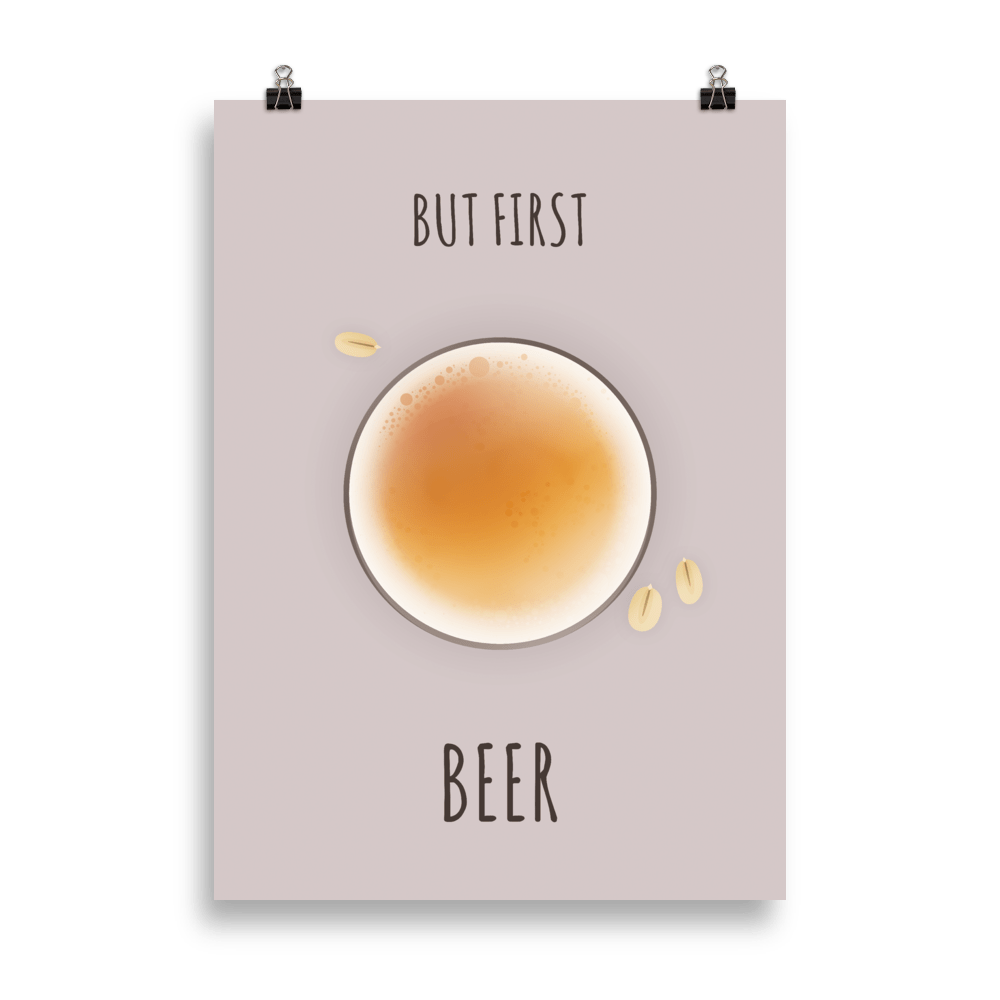 But first beer